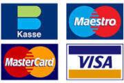 Kasse Maestro Mastercard Visa